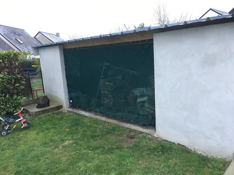 Filet brise-vent pour fermer abri de jardin