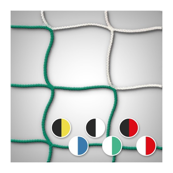 Filet de but Séniors bi-couleur européen - mailles 120 x 120 mm