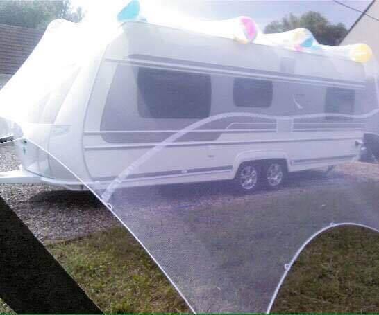 Filet de protection contre la grêle pour caravane