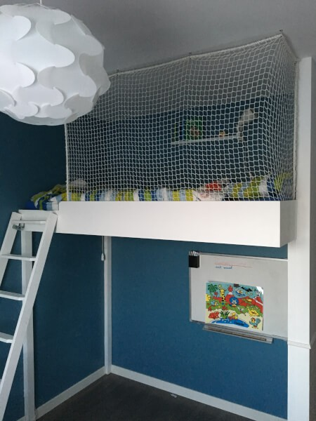 Filet de protection enfants polyamide - mailles 25 x 25 mm - ∅ 2 mm envoyé par un client