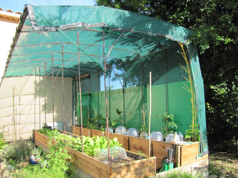 Filet brise-vent et ombrage pour jardin