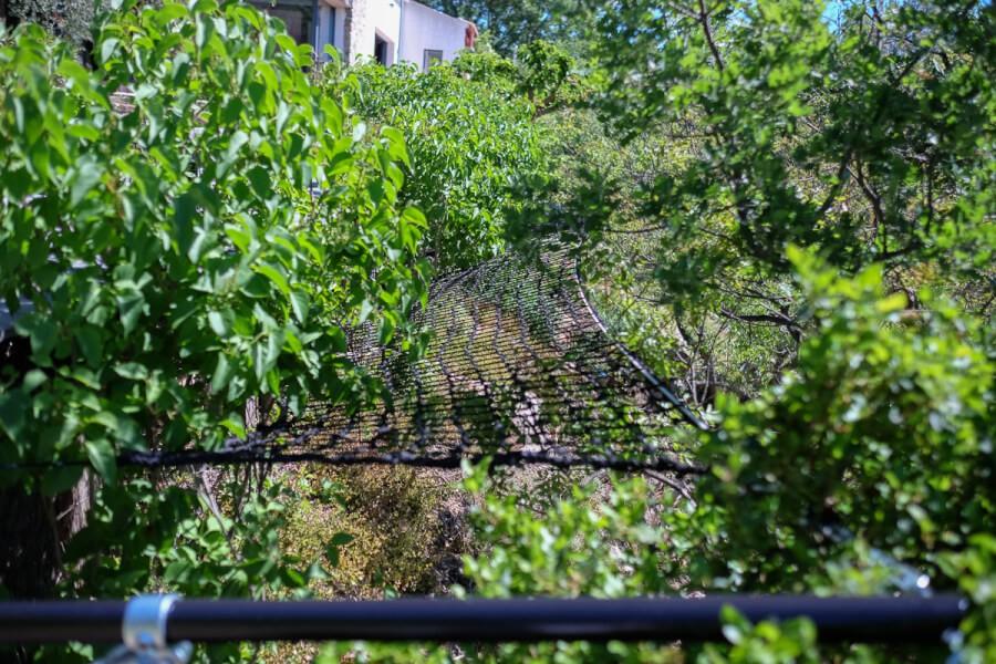 Filet anti-chute bord terrasse sur-élevée