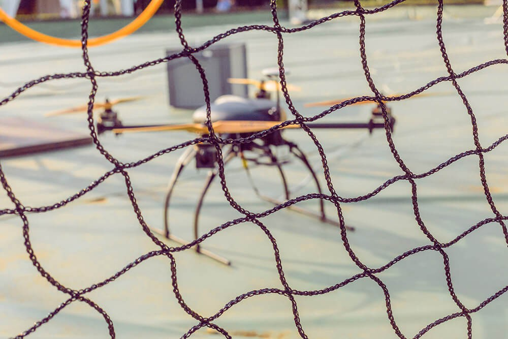 Filet de protection du public pour cage à drones