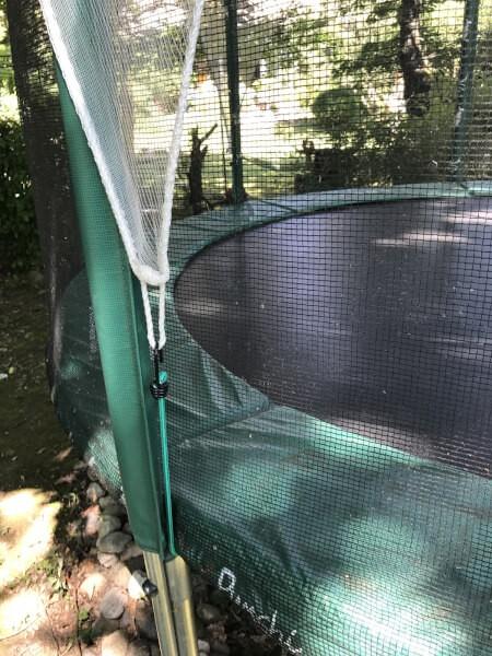 Filet de protection contre les branches et feuilles pour trampoline