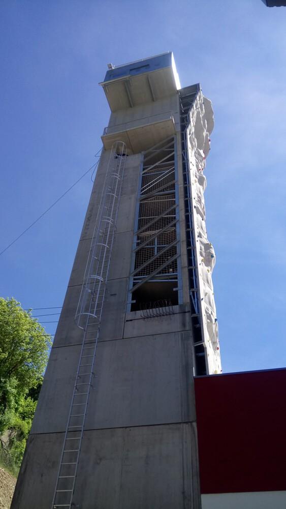 Filet de sécurité pour centre entrainement pompiers