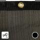 Filet brise-vent noir - Filtration élevée (± 65%)