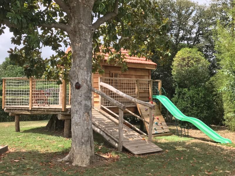 Filet garde-corps pour cabane en bois enfant