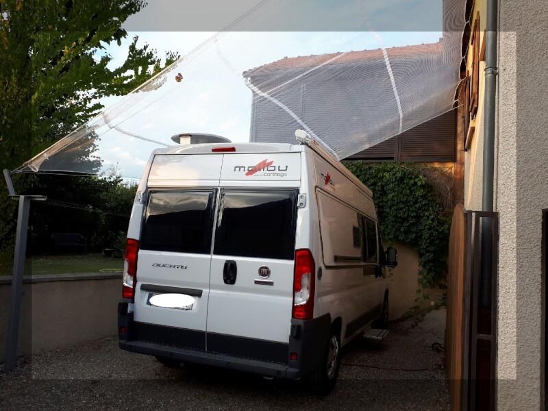 Filet protection grêle pour camionette