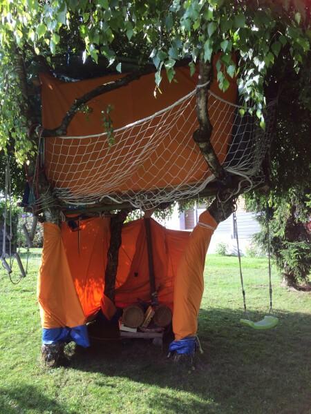 Filet de sécurité pour cabane enfant