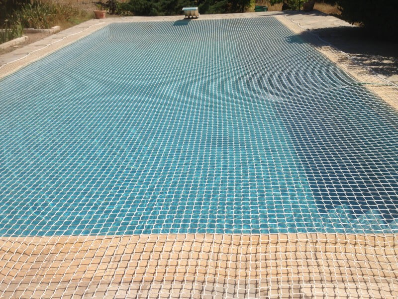 Filet de sécurité amovible pour couverture de piscine