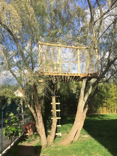 filet sur mesure cabane en bois