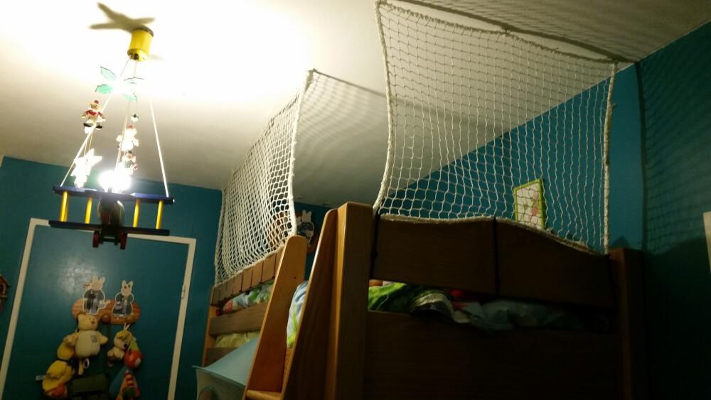 filet securité pour lit en hauteur