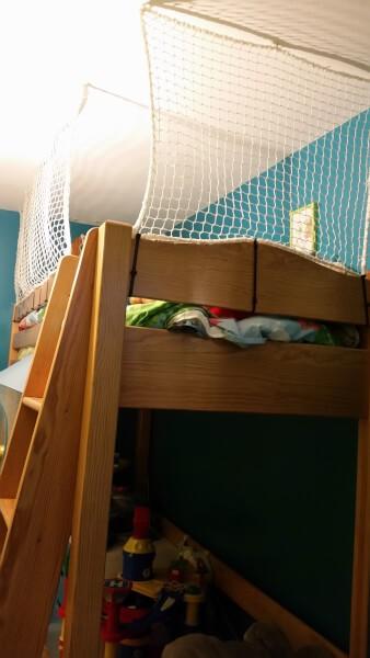filet de securité pour lit en hauteur