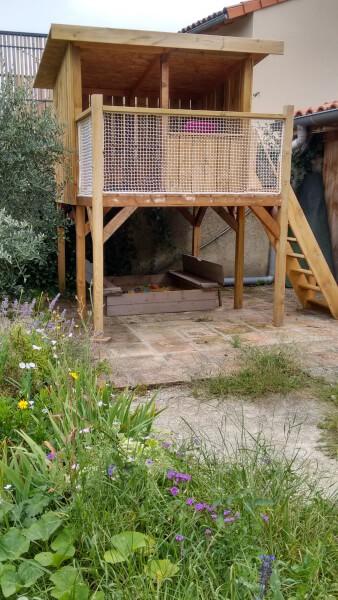 filet pour garde-fou cabane en bois
