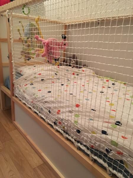 filet pour petit lit d'enfant
