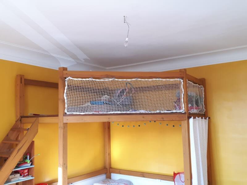 filet petite maille pour lit en hauteur