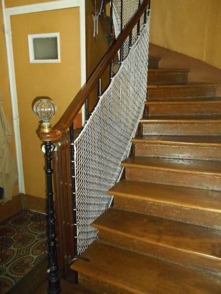 Grand filet pour escalier