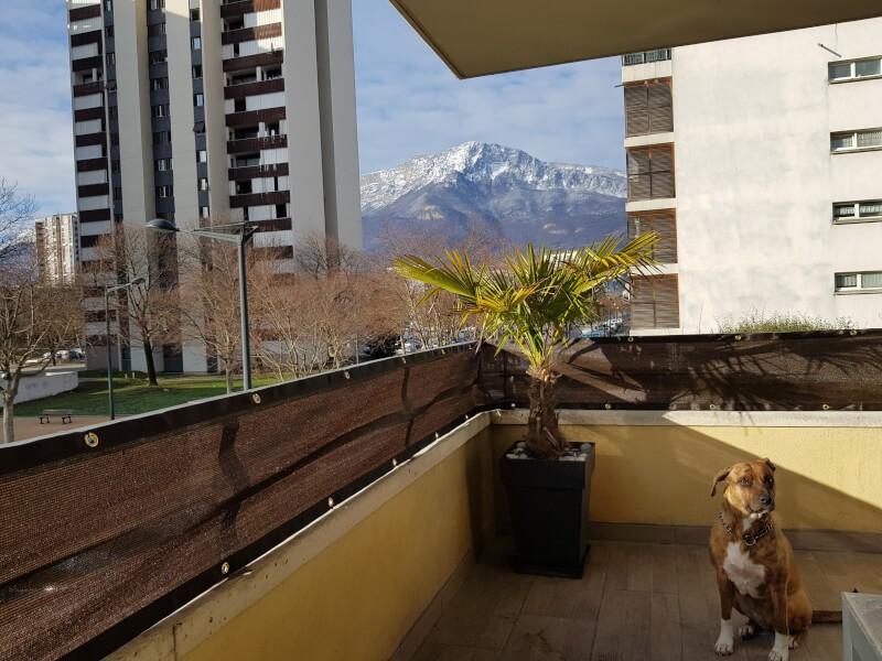 Filet brise-vue couleur pour balcon