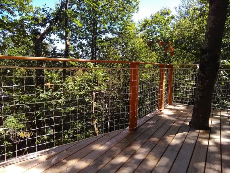 Filet garde-corps pour terrasse suspendue