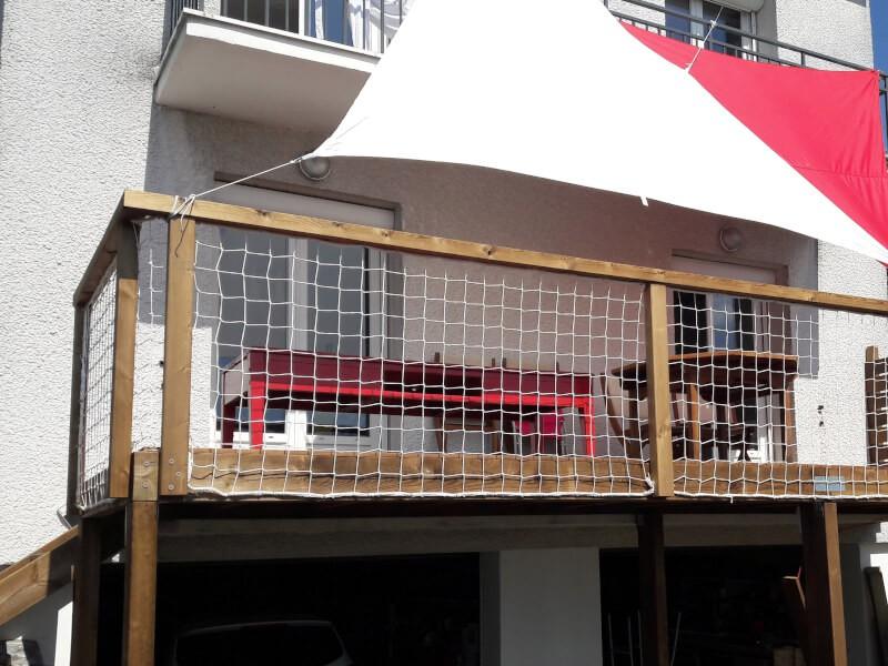 Sécuriser une terrasse sur piloti avec un filet