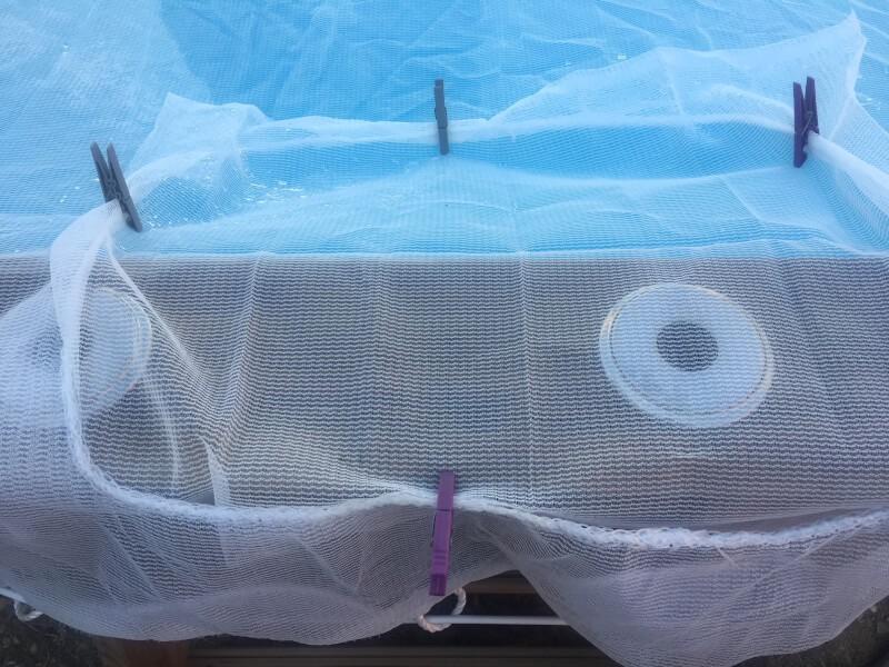 Filet anti-feuilles et salissures - Mailles 1 mm - 110 g/m² envoyé par un client