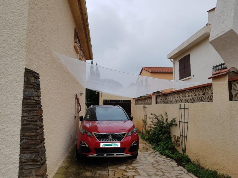 Filet protection grêle pour allée de garage