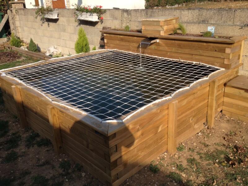 Protection bassin avec filet de anti-chute