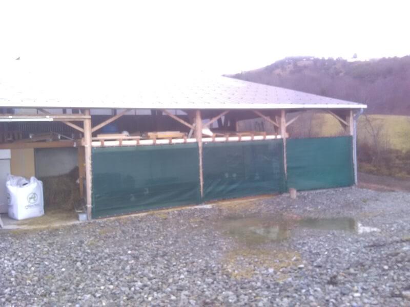 Filet brise vent très forte filtration pour hangar
