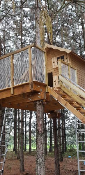 filet protection cabane en hauteur