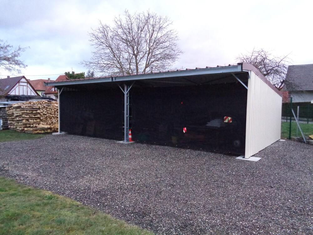 Filet brise-vent noir pour garage