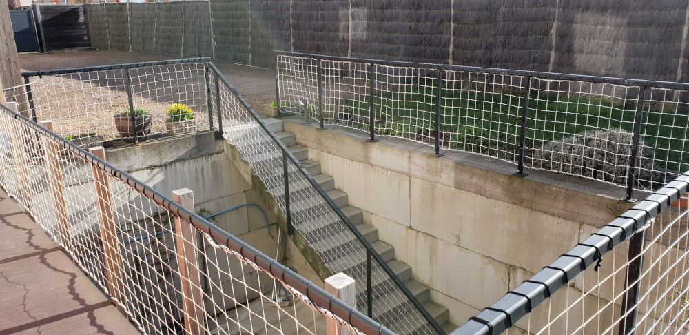 Filet périphérique pour accès souterrain