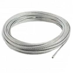Câble acier galvanisé 4 mm - au mètre