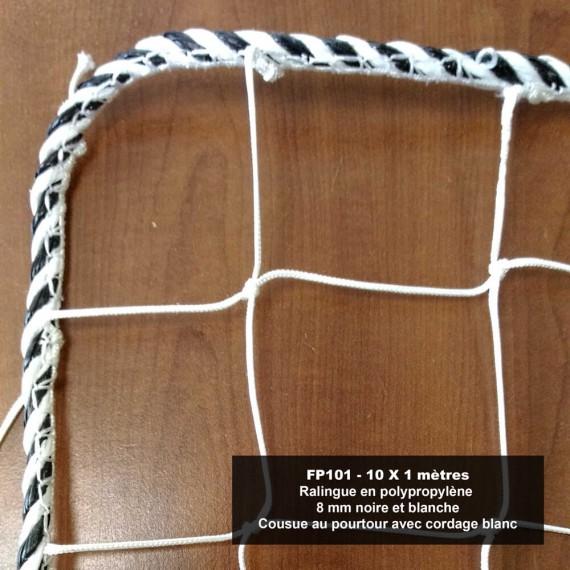 Filets périphériques - mailles 100 x 100 mm - dimensions 10 x 1 m