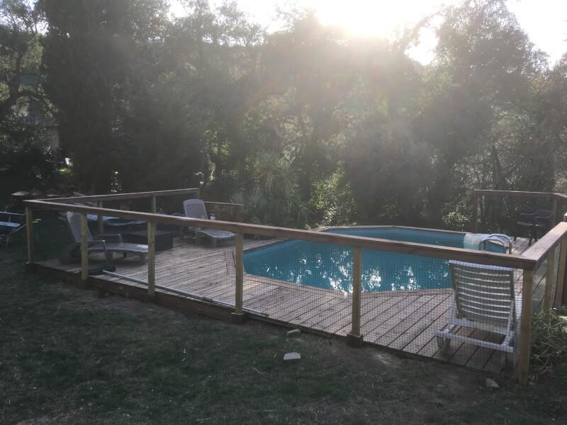 Filet gardes-corps piscine