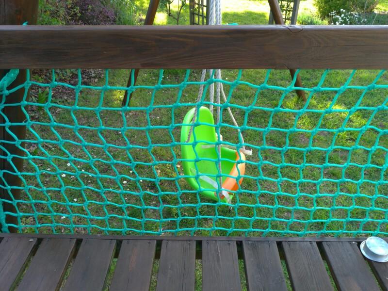 Filet pare-ballons - Mailles 50 mm - ∅ 4 mm - Tressé noué envoyé par un client