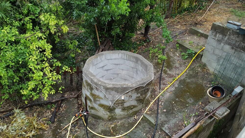 Filet de protection puits