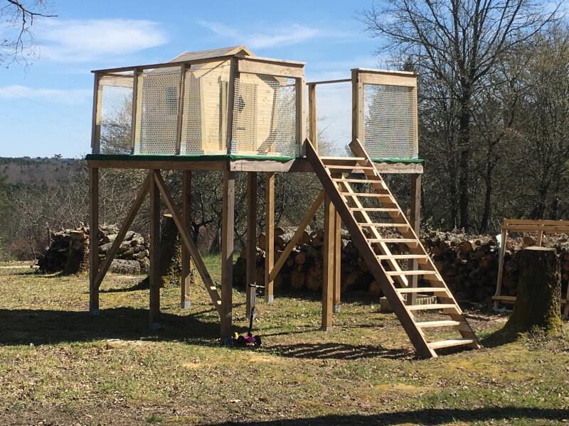 Filet pour grande cabane en bois