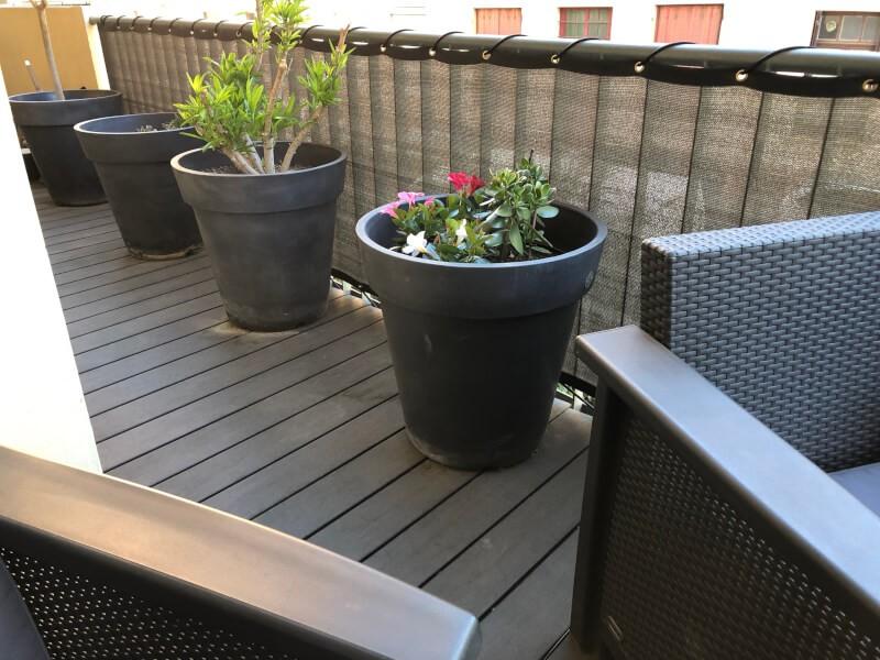 Brise-vue occultation forte pour balcon
