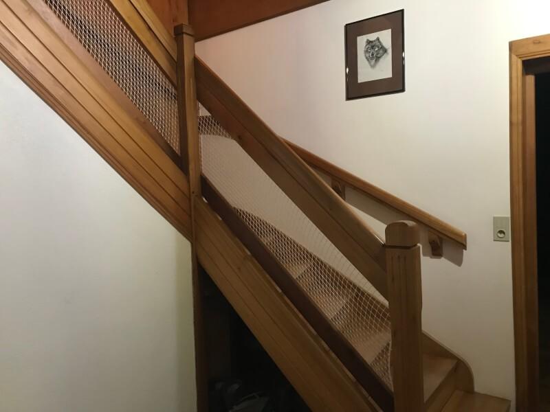 Filet polyamide blanc pour escalier
