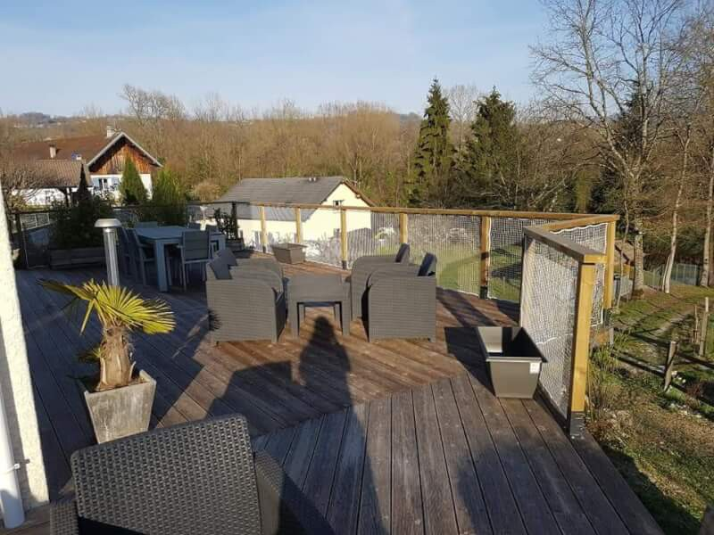 Filet polyamide pour terrasse