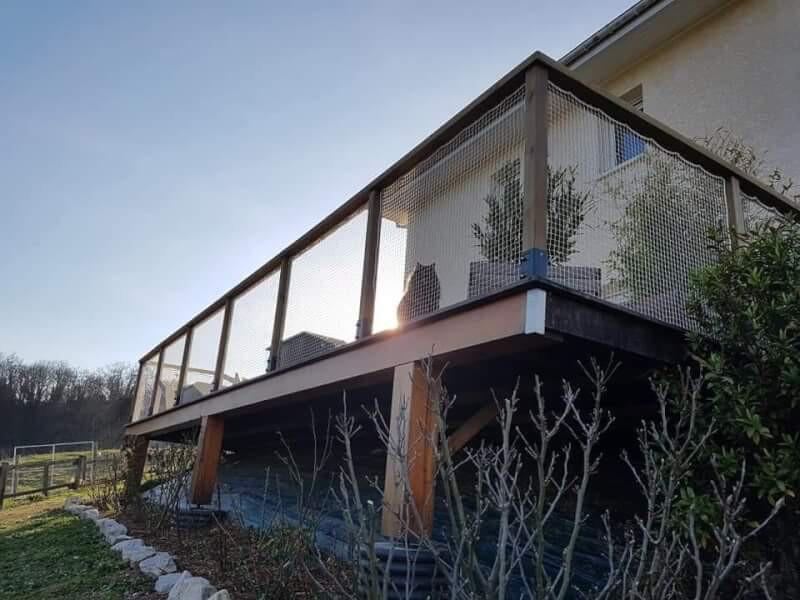 Filet sécurité pour terrasse en hauteur