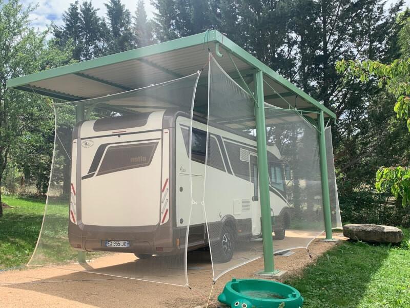 Filet anti-grêle pour abri camping-car