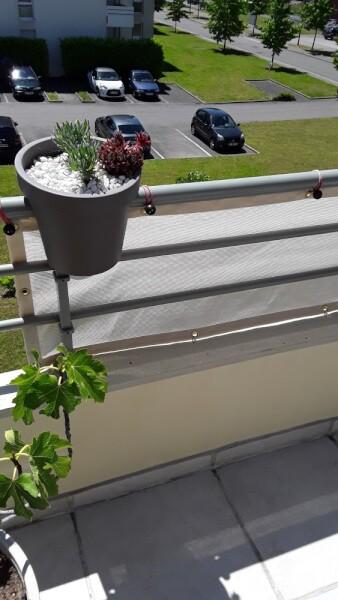 Brise-vue blanc pour balcon