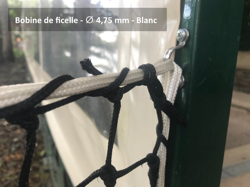 Bobine de ficelle polyamide blanc - ∅ de 1 à 4,75 mm envoyé par un client