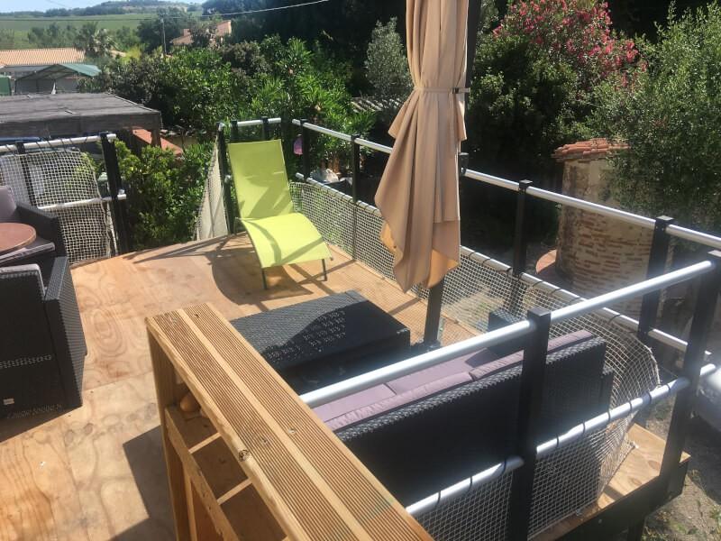 Filet garde-corps terrasse