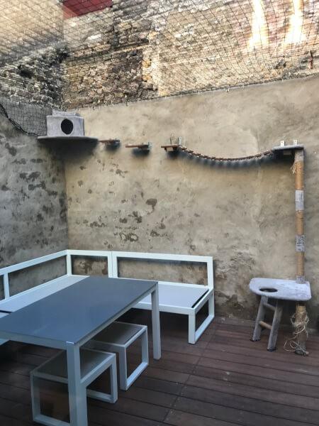 Filet anti fuite pour espace extérieur pour chat