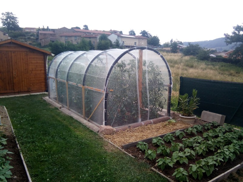 Filet anti-grêle pour mini-serre agriculture
