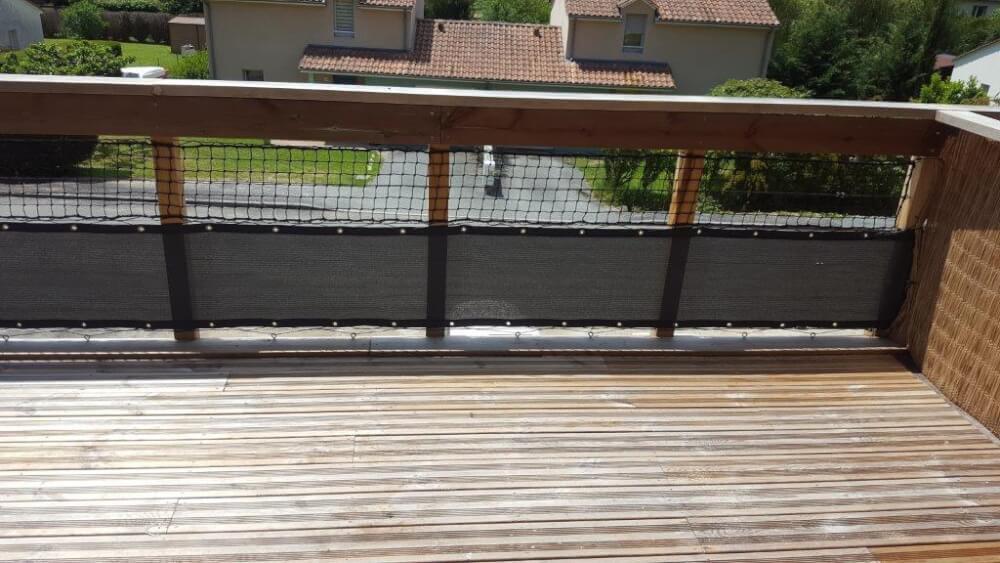 Filet noir pour garde-corps balcon