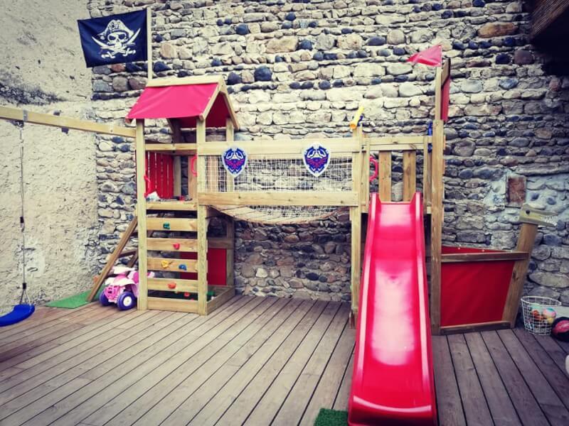Filet de protection pour jeux enfants en bois