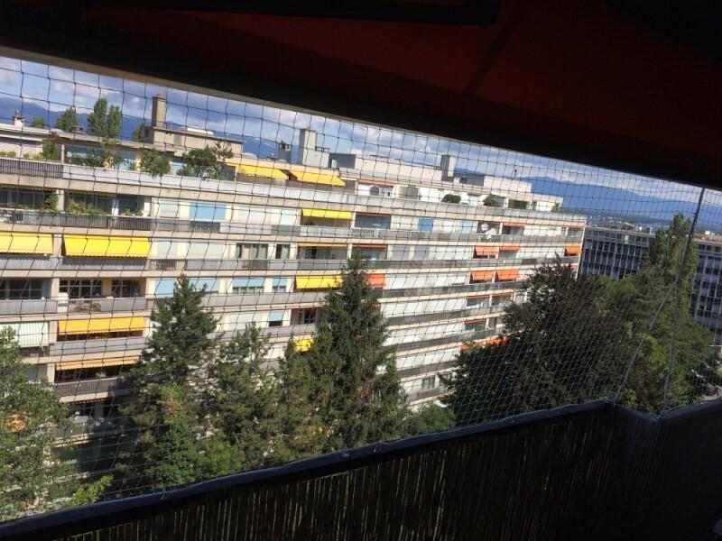 Filet de protection pour balcon immeuble